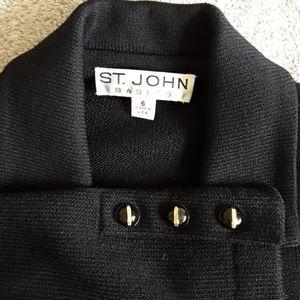 St John Basics Black Knit Blazer Size 6.